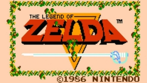 Original 1986 Legend of Zelda Cover Art Logo