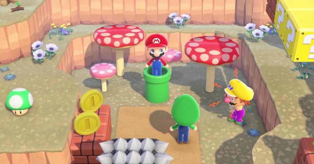 Mario Animal Crossing Screenshot