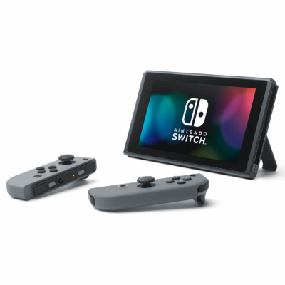 Nintendo Switch with Neon Blue and Neon Red Joy-Con Controllers Promo Image