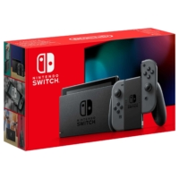 Nintendo Switch with Grey Joy-Con Controllers Box View