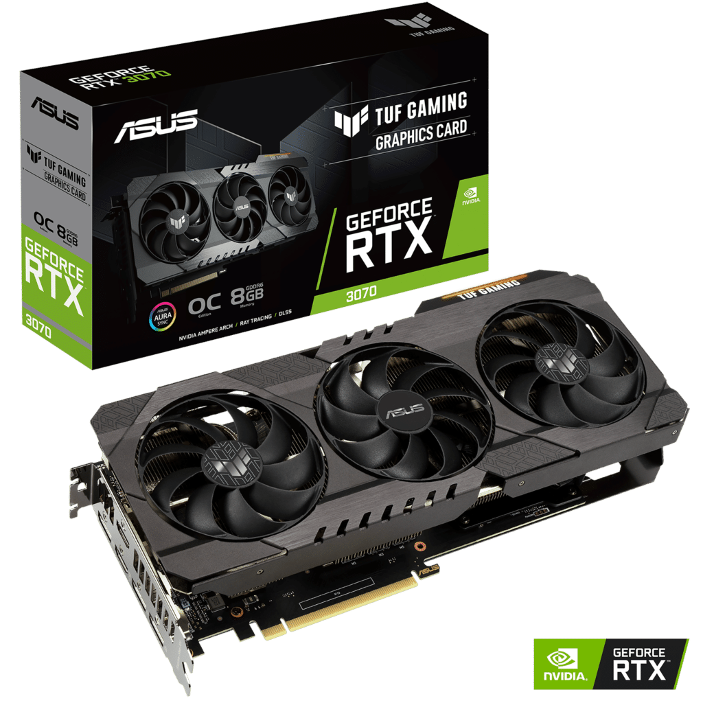 ASUS TUF GAMING GeForce RTX 3070 8G OC Promo Box View