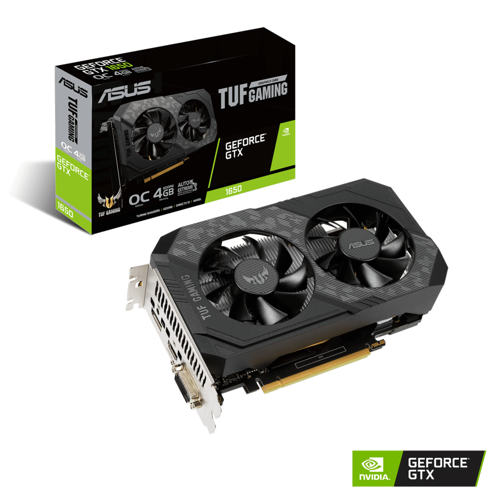 ASUS TUF Gaming GeForce GTX 1650 OC Edition Promo Box View