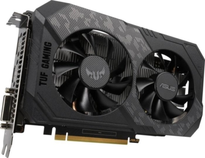 ASUS TUF Gaming GeForce GTX 1650 OC Edition Angled Fan View