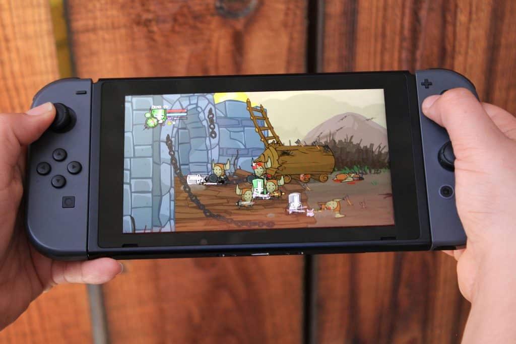 Nintendo Switch Grey in Handheld Mode