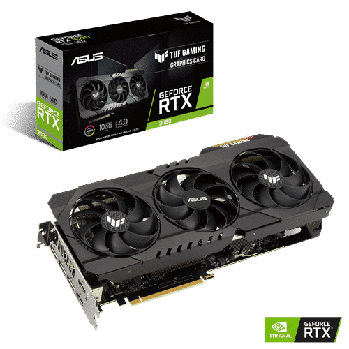 ASUS TUF Gaming GeForce RTX 3080 10G OC Edition Promo View