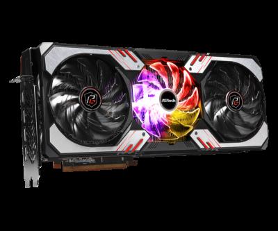ASRock AMD Radeon RX 6800 XT Phantom Gaming Angled View