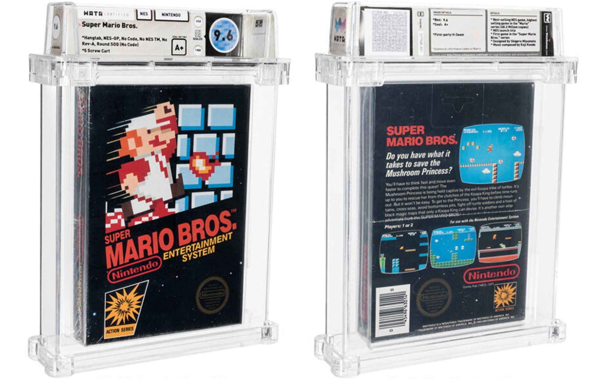 1986 Super Mario Bros. Game Cartridge