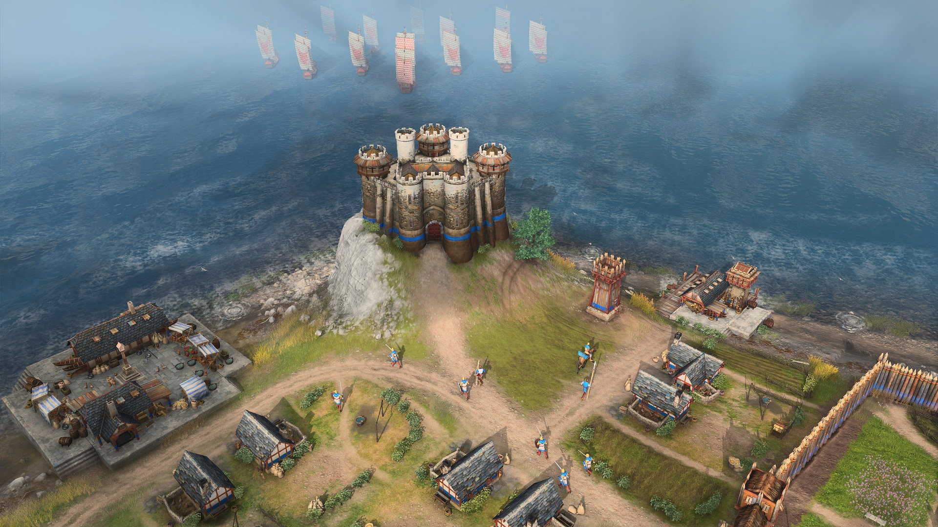 Age of Empire IV Castle Gameplay Screenshot