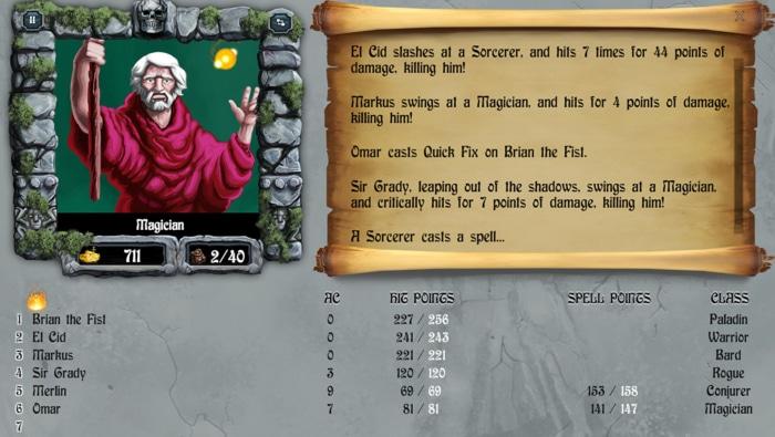 The Bard's Tale Gameplay Screenshot