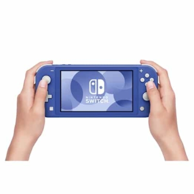 Nintendo Switch Lite Blue In-hand View