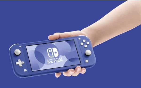 Nintendo Switch Lite Blue Promo Image