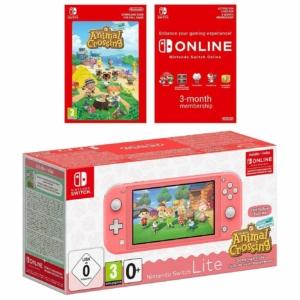 Nintendo Switch Lite Coral Animal Crossing Bundle Promo