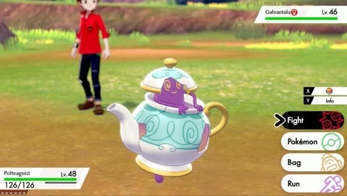 Pokémon Shield Menu Scene