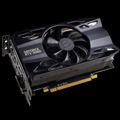 EVGA GeForce RTX 2060 SC Angled View