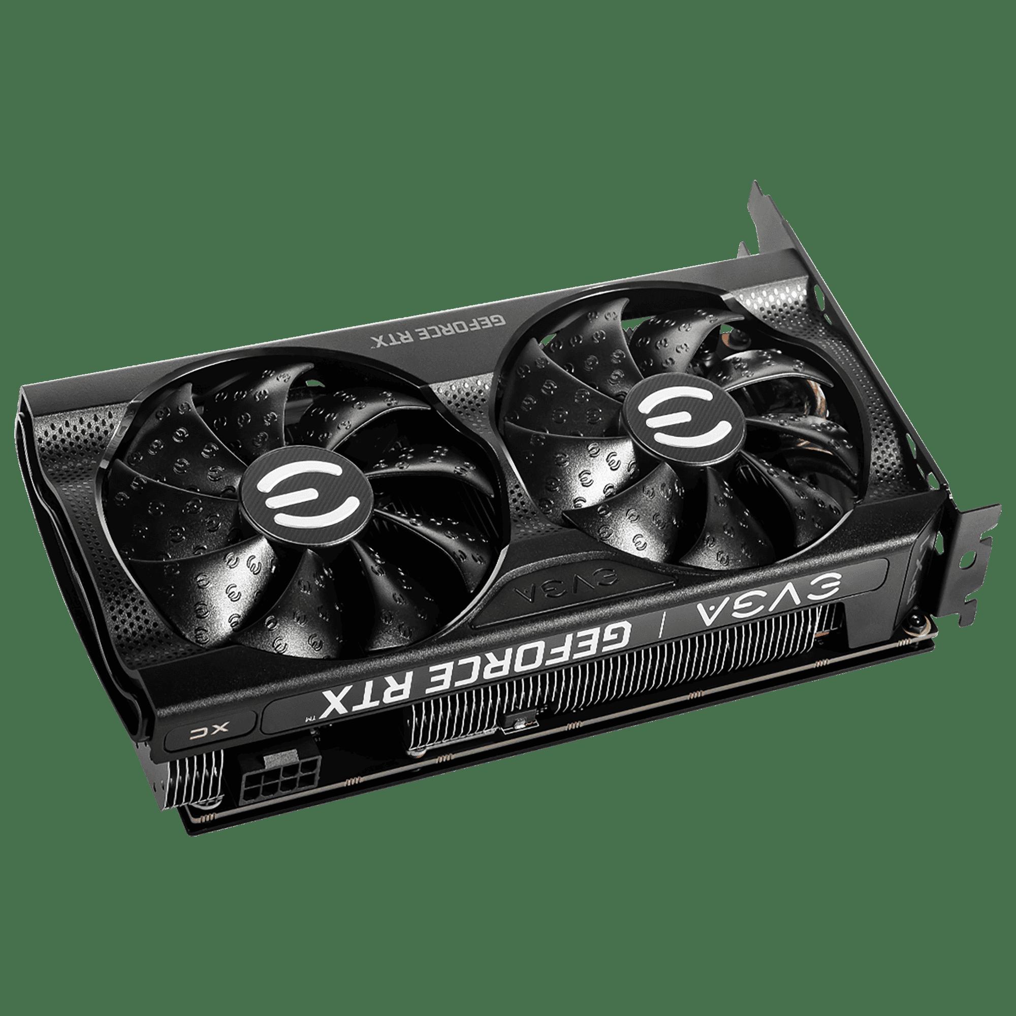 EVGA GeForce RTX 3060 XC GAMING Angled Fan View