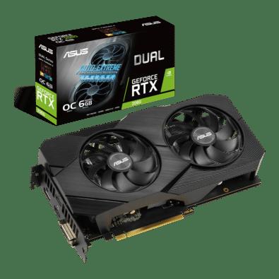 ASUS Dual GeForce RTX 2060 OC EVO 6GB Angled Promo View