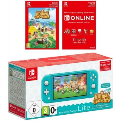 Nintendo Switch Lite Turquoise Animal Crossing Bundle Promo