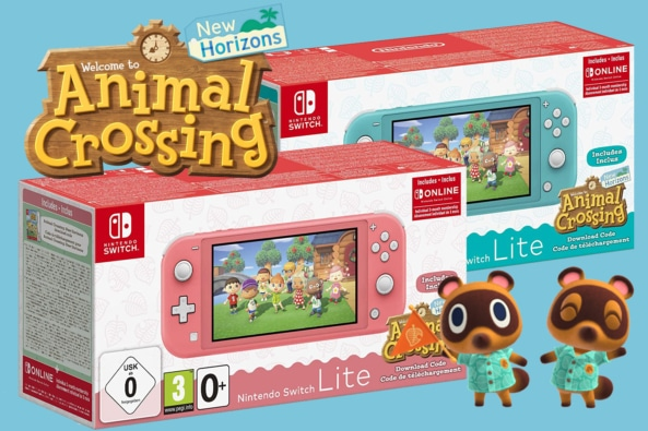 Nintendo Switch Lite Animal Crossing Bundle Banner