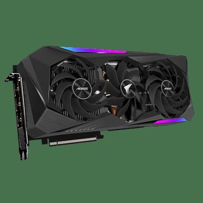 Gigabyte AORUS GeForce RTX 3070 Ti MASTER Angled Fan View