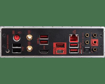 MSI MPG X570 Gaming Edge WiFi IO Panel View