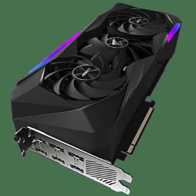 Gigabyte AORUS GeForce RTX 3070 Ti MASTER Flat Angled View