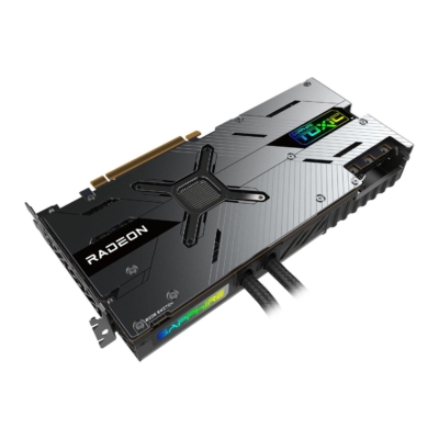 Sapphire RX 6900 XT TOXIC Top Angled View