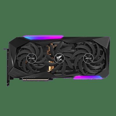 Gigabyte AORUS GeForce RTX 3070 Ti MASTER Flat Fan View
