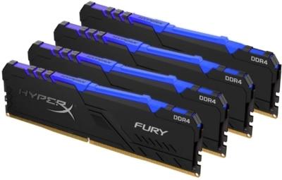 HyperX Fury RGB 32GB Memory Kit RAM Angled View