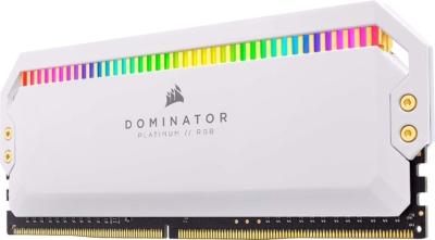 CORSAIR Dominator Platinum White RAM Single Upright View