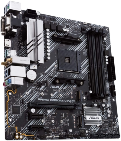 ASUS PRIME B550M-A Angled View
