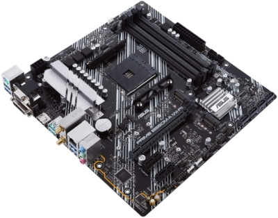 ASUS PRIME B550M-A Flat Angled View