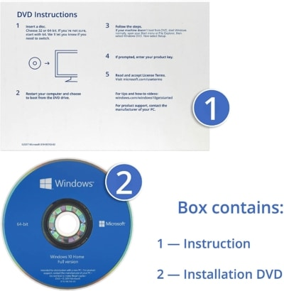 Windows 10 Home Edition OEM Instructions