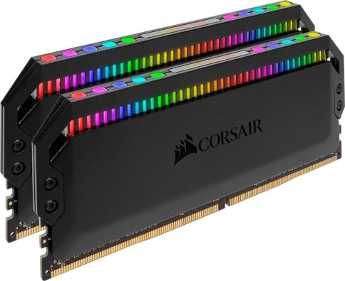 Corsair Dominator Platinum RGB Black Angled View
