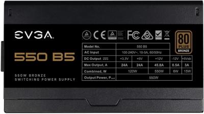 EVGA 550 B5 Side View