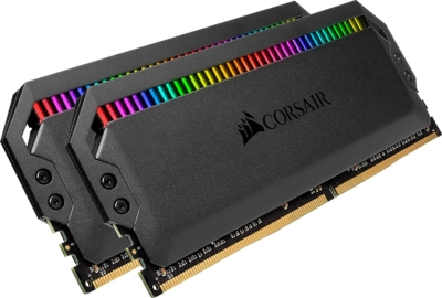 Corsair Dominator Platinum RGB Black Angled Flat View