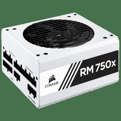 Corsair RM750x White Angled View