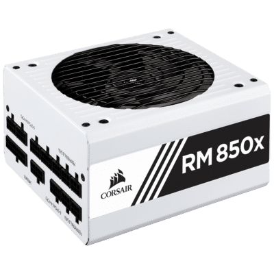 Corsair RM850x White Angled View