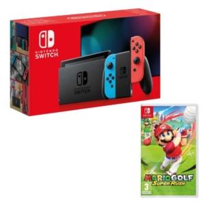 Neon Nintendo Switch + Mario Golf: Super Rush