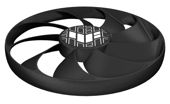 ASUS TUF Gaming GeForce RTX 3060 OC Fan Illustration