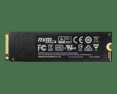 Samsung 970 EVO Plus 1TB Back View