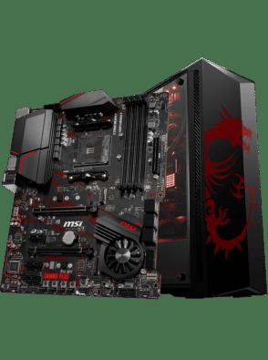MSI X570 Gaming Plus Motherboard Promo Image