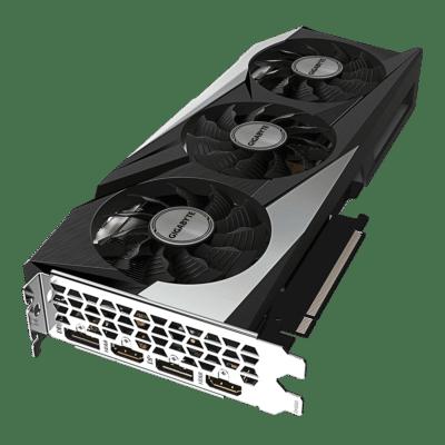 Gigabyte GeForce RTX 3060 GAMING OC 12G Flat Angled View