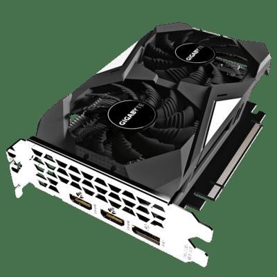 GIGABYTE GeForce GTX 1650 OC 4GB Angled View
