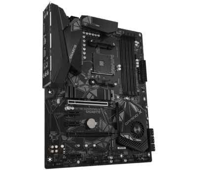 GIGABYTE X570 GAMING X Angled Rear View