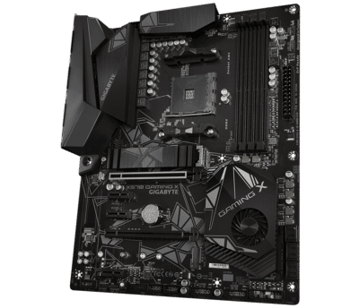 GIGABYTE X570 GAMING X Angled Front View
