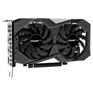 GIGABYTE GeForce GTX 1650 OC 4GB Vertical Angled View