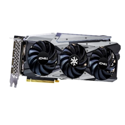 INNO3D RTX 3070 iCHILL X3 Vertical Angled View