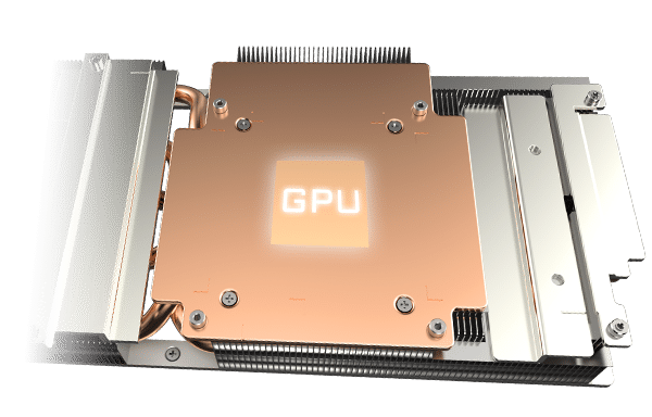 Gigabyte GeForce RTX 3060 GAMING OC Heatsink Illustration