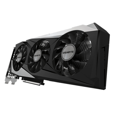 Gigabyte GeForce RTX 3060 GAMING OC 12G Rear Angled View