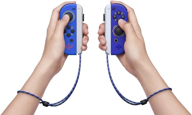 Legend of Zelda Joy-Cons Handheld View
